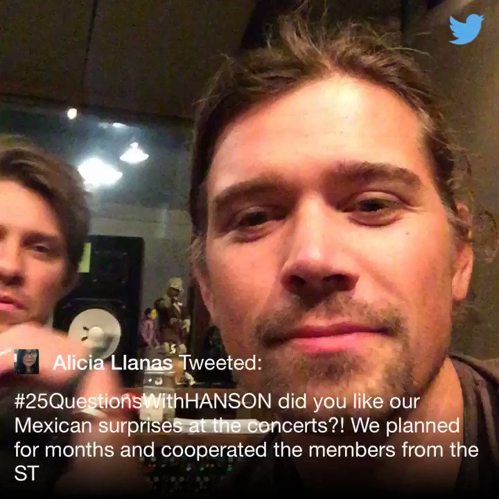.@AliciaLlanas #25QuestionsWithHANSON https://t.co/xDvyGlVFMM
