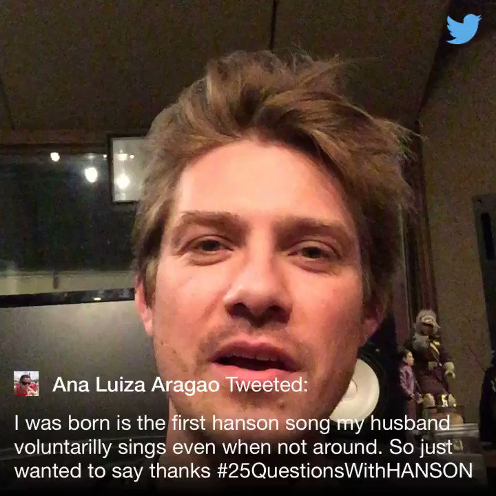 .@AnaLuAragao #25QuestionsWithHANSON https://t.co/gYrW3ctSEl