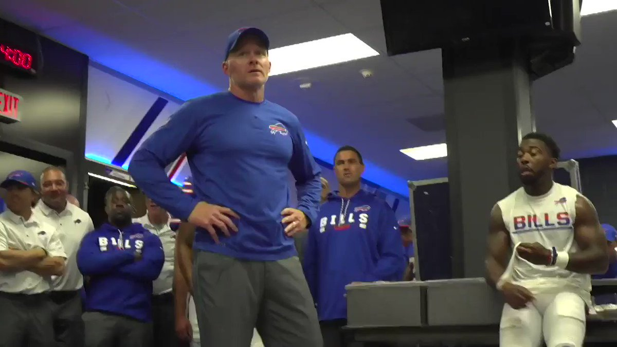 There's a lot to love about Sean McDermott's first post-win locker room speech. #GoBills https://t.co/gy9gEO56yd