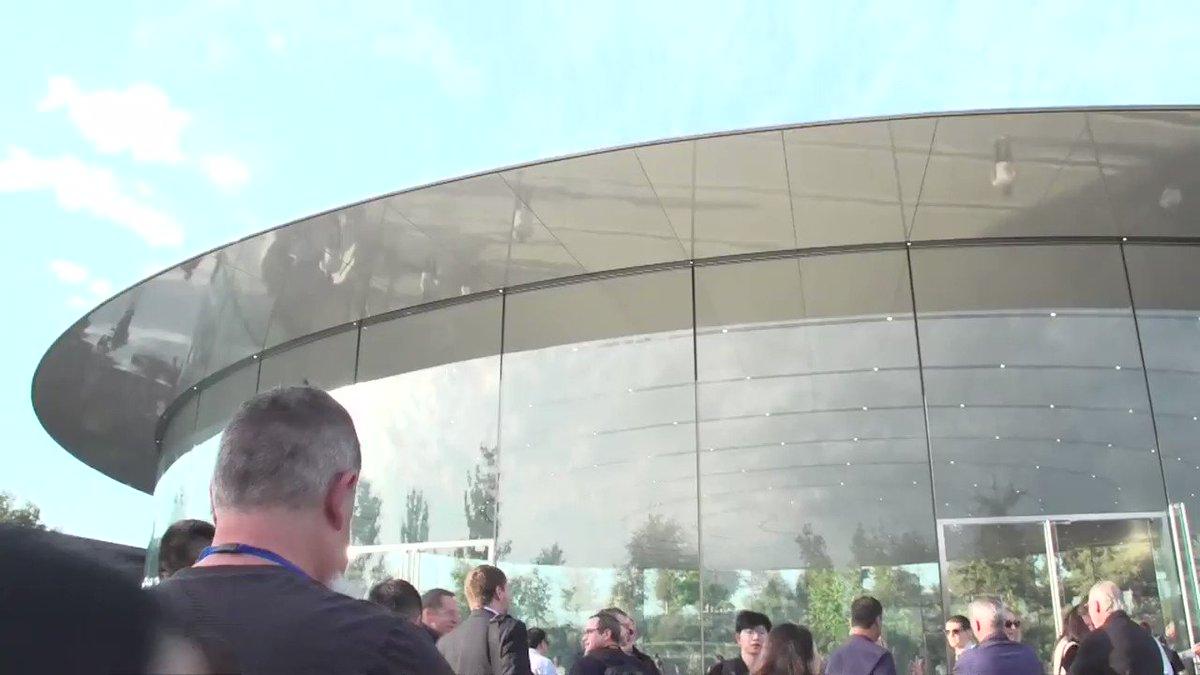 The scene straight from the Steve Jobs Theater at the #AppleEvent. https://t.co/FEsBrHbx2Q
