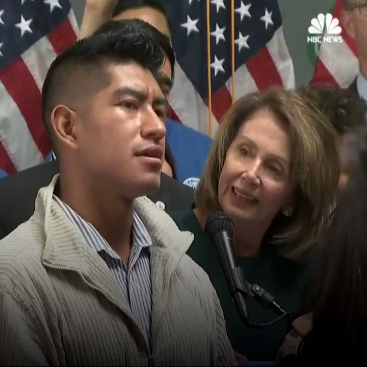 WATCH: Pro-immigration protesters confront Nancy Pelosi at a news conference https://t.co/QSMgraTCnw https://t.co/L6qMdlV65Y