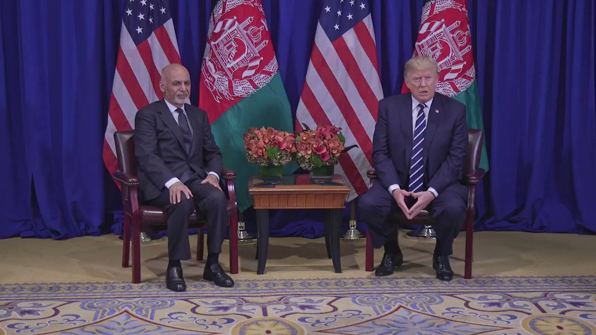 It was a pleasure to have President Ashraf Ghani of Afghanistan with us this morning! #USAatUNGA #UNGA https://t.co/HOEVfnMn14
