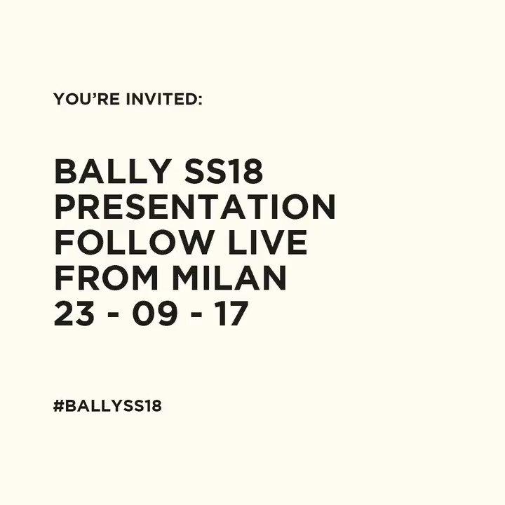 Follow the SS18 presentation on Instagram Stories tomorrow https://t.co/6Ju77Q3HJt #BallySS18Preview https://t.co/2eHKGsrMe4