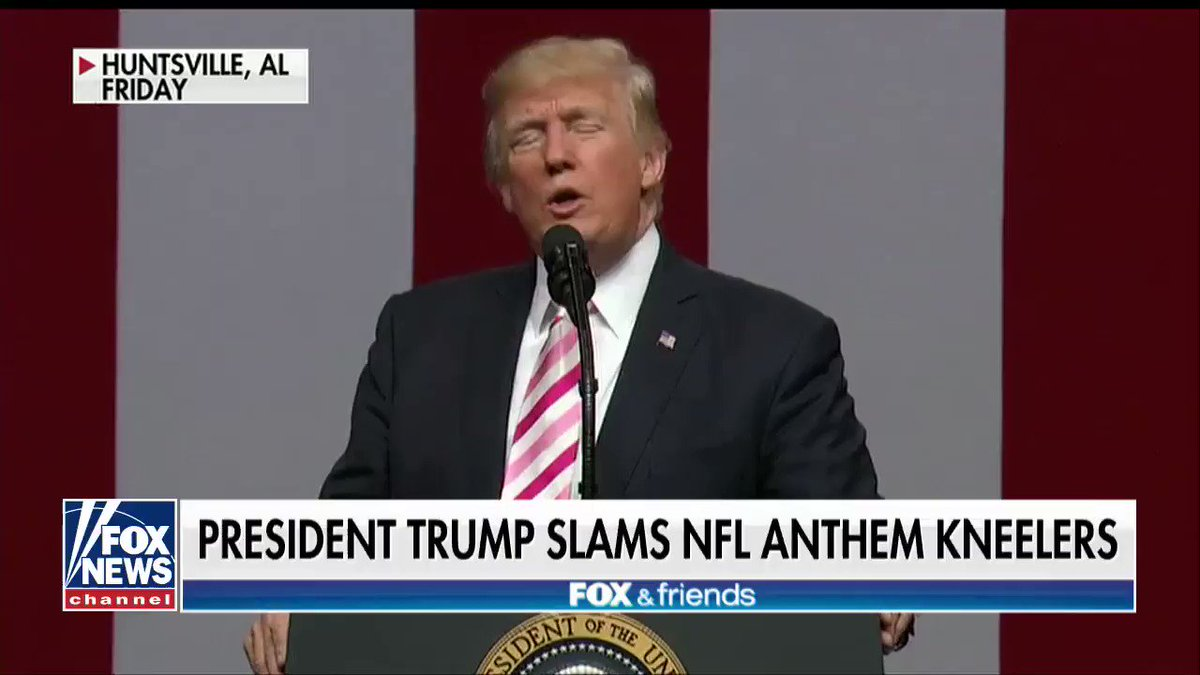 .@POTUS Blasts @NFL Anthem Kneelers https://t.co/fTz0lyQgcO https://t.co/D4Jiy3flNQ