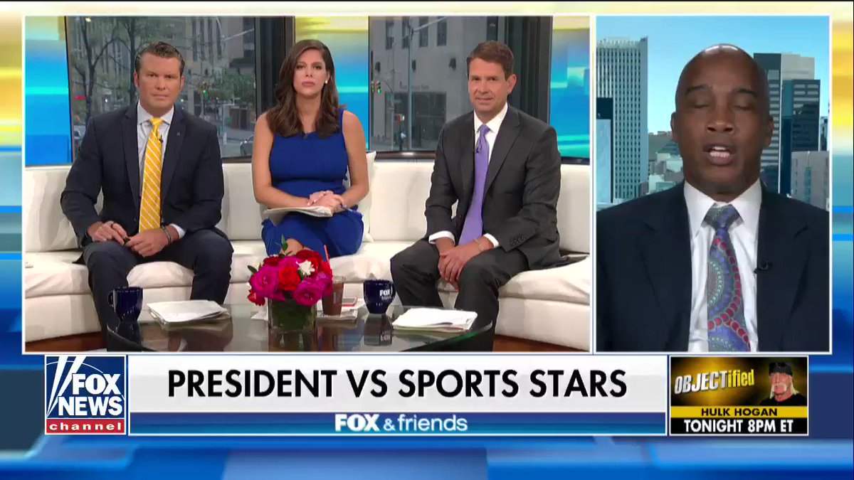 .@KevinJacksonTBS on athletes kneeling: 'We have a president who is standing up for the flag in America.' https://t.co/aqFL20qO8P