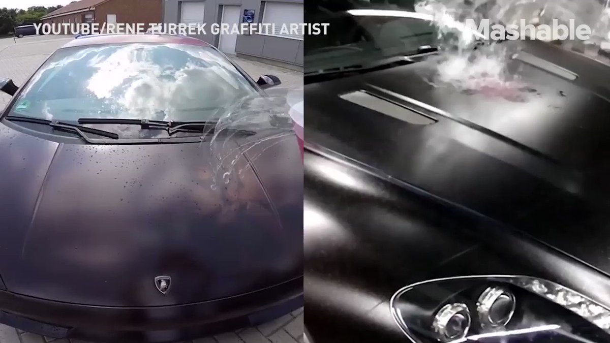 Graffiti artist is disguising his incredible car artwork with heat-sensitive paint https://t.co/Gu0sXgYHUQ