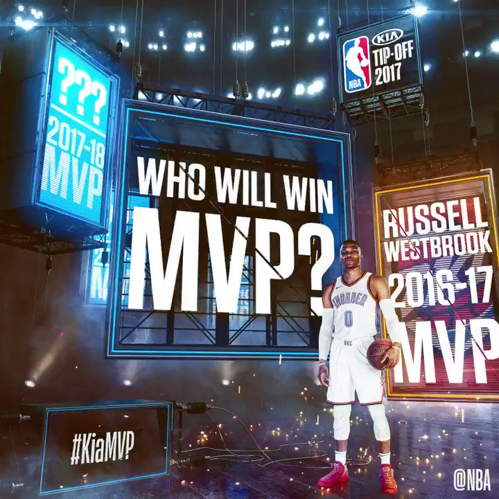 As the 2017-18 NBA season approaches... who is your preseason pick for #KiaMVP? https://t.co/ZjKbrPGfHp