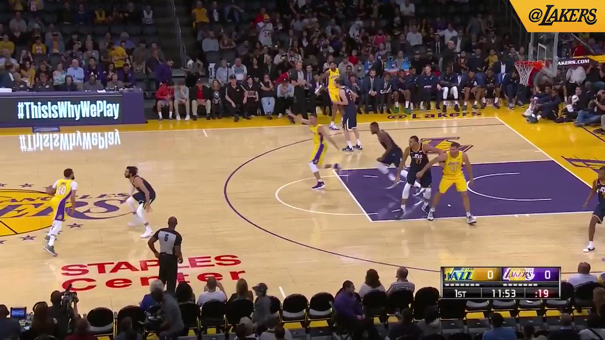HIGHLIGHTS: Clarkson and Kuzma lead the scoring with 18 apiece, but the Lakers fall to the Jazz 105-99. https://t.co/HEBeWIwQJs
