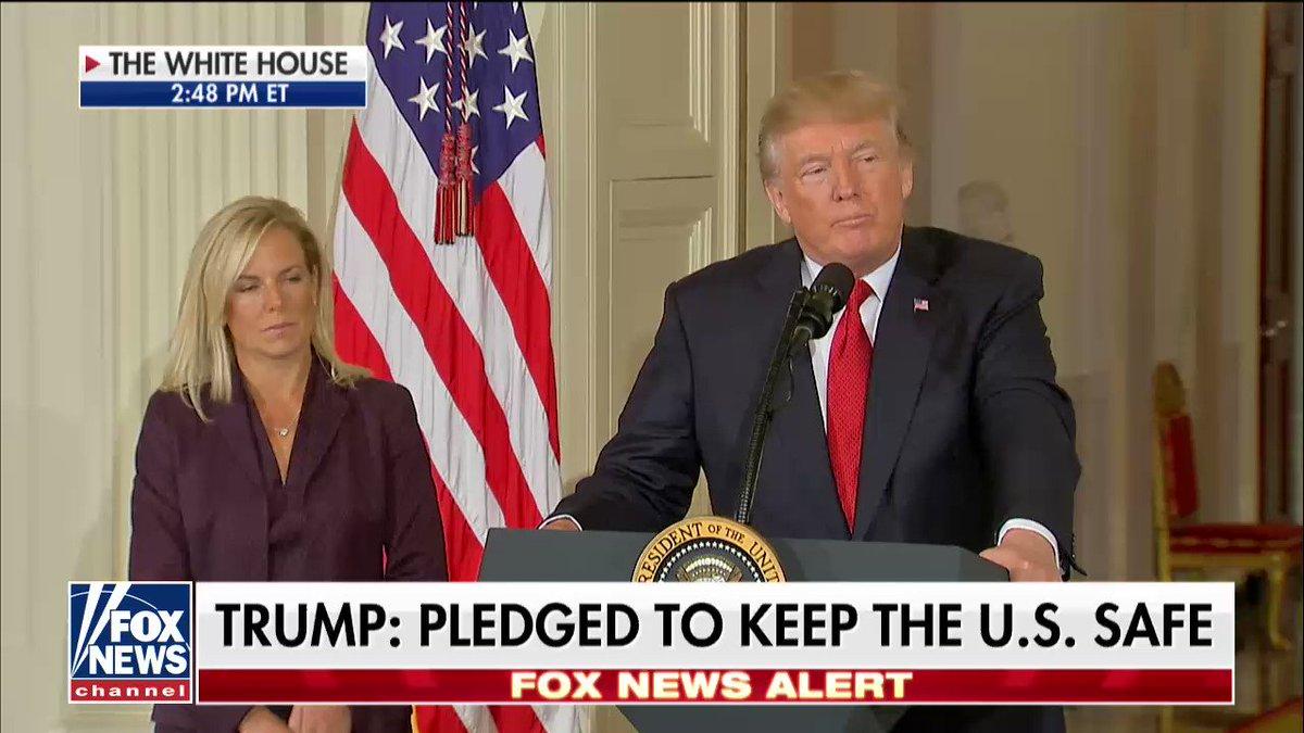 .@POTUS congratulating Kirstjen Nielsen on being this pick for the next Secretary of Homeland Security https://t.co/Hschr1s0Kk