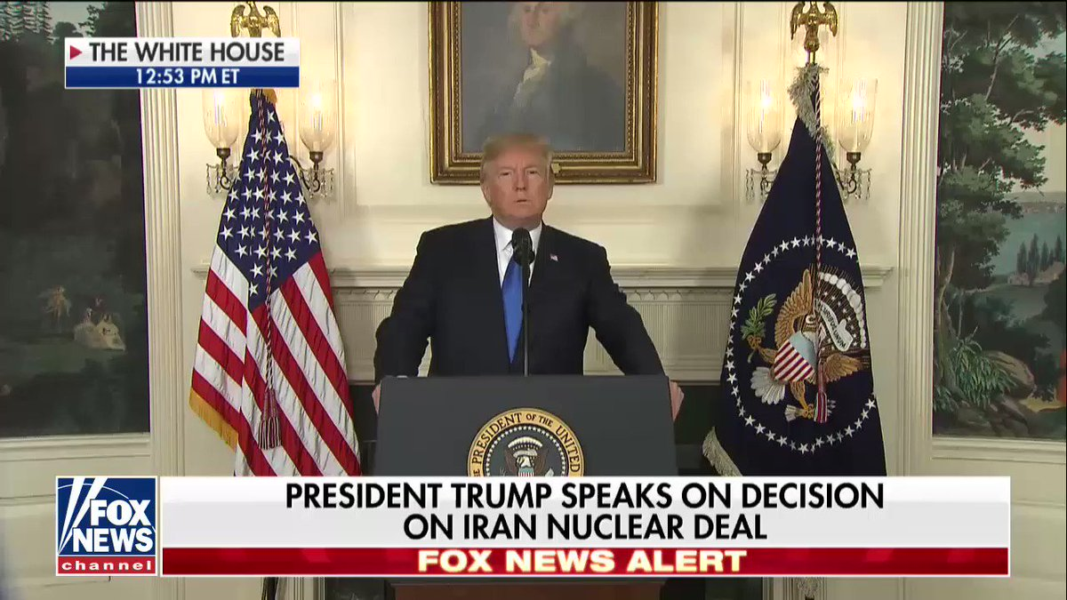 WATCH: @POTUS's full remarks on not recertifying Iran nuclear deal - Part 1. https://t.co/d2Pco43adY https://t.co/aczNd2V8Fu