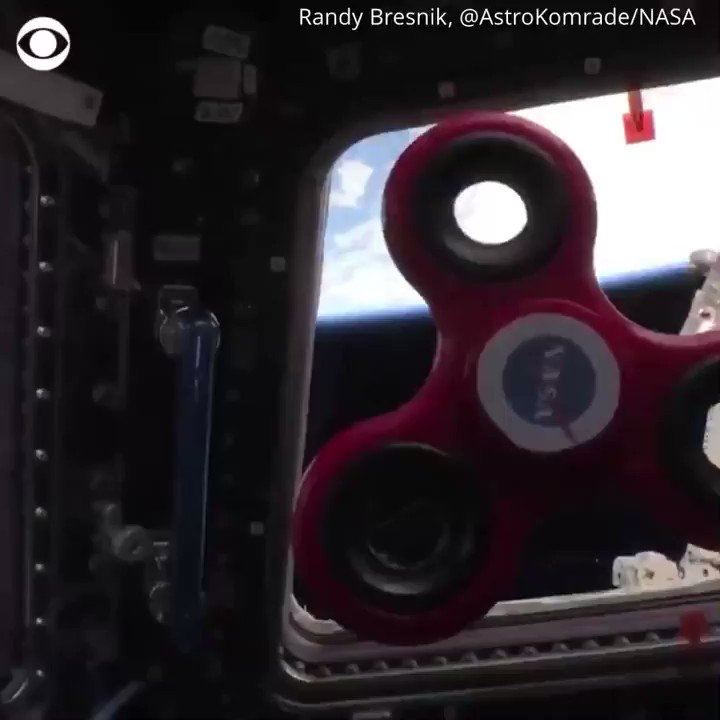 Why is there a fidget spinner in space? For one thing, it can help teach a science lesson.