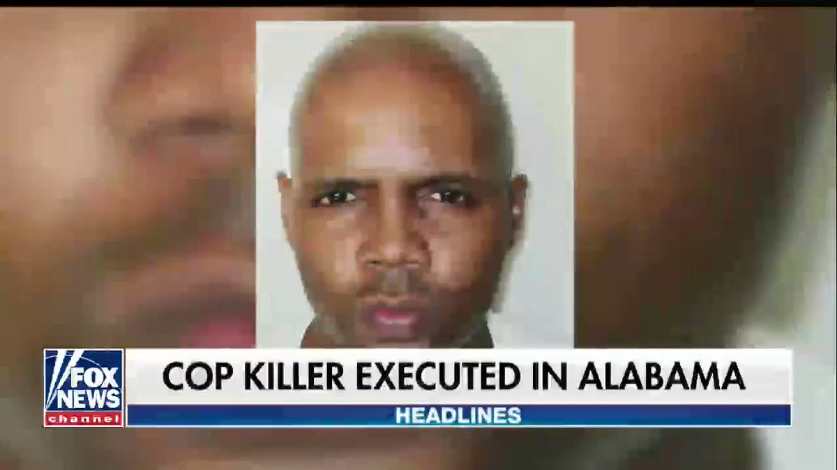 Cop killer executed in Alabama. https://t.co/ps8RJFntmk https://t.co/I5Jqw5wraB