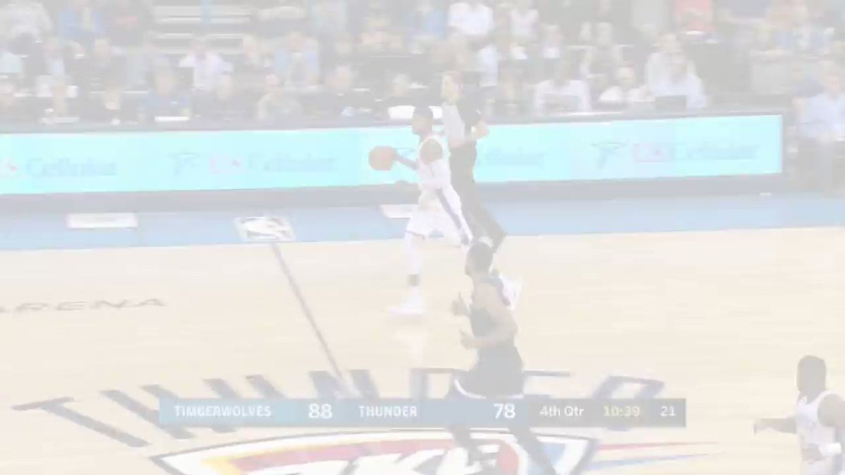 The clutch moments down the stretch of @Timberwolves/@OKCThunder thriller! https://t.co/6CvJStJwWo
