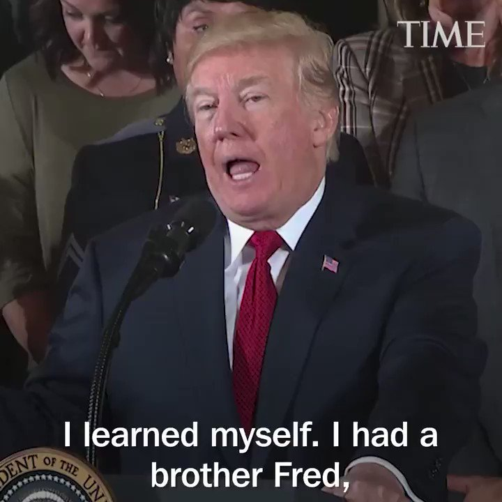 'He really helped me.' President Trump says his brother kept him away from drugs
