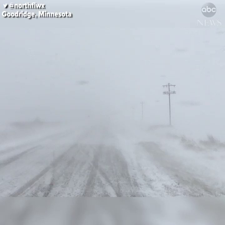 First winter storm of the season brings whiteout conditions to parts of Minnesota.