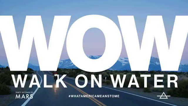 WALK ON WATER. THE VIDEO. OUT NOW. Share your thoughts #whatamericameanstome ???????? https://t.co/9UxsYHBJHk https://t.co/lJwGukb32m