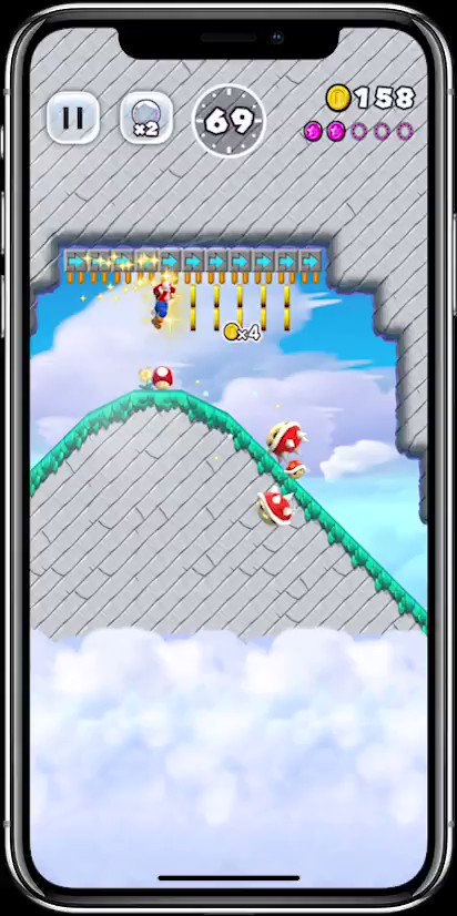 Here's what #SuperMarioRun looks like on the iPhone X! https://t.co/Sp5qZX5xOc