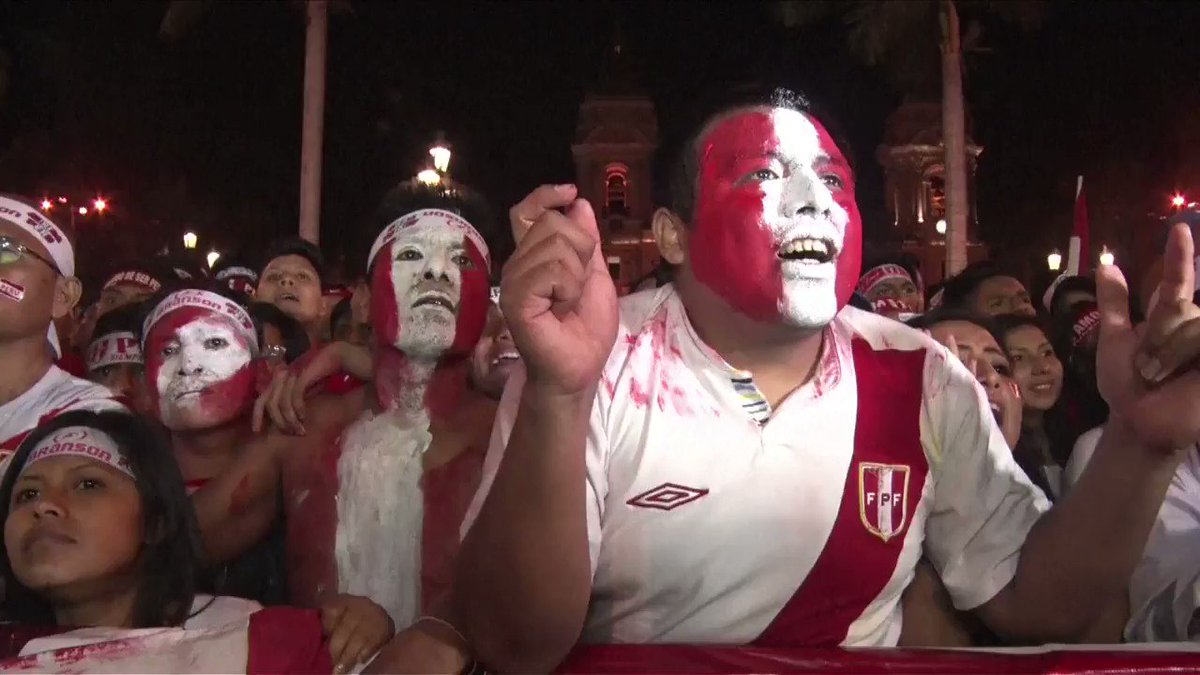 Fans celebrate as Peru advances to the World Cup for the first time since 1982