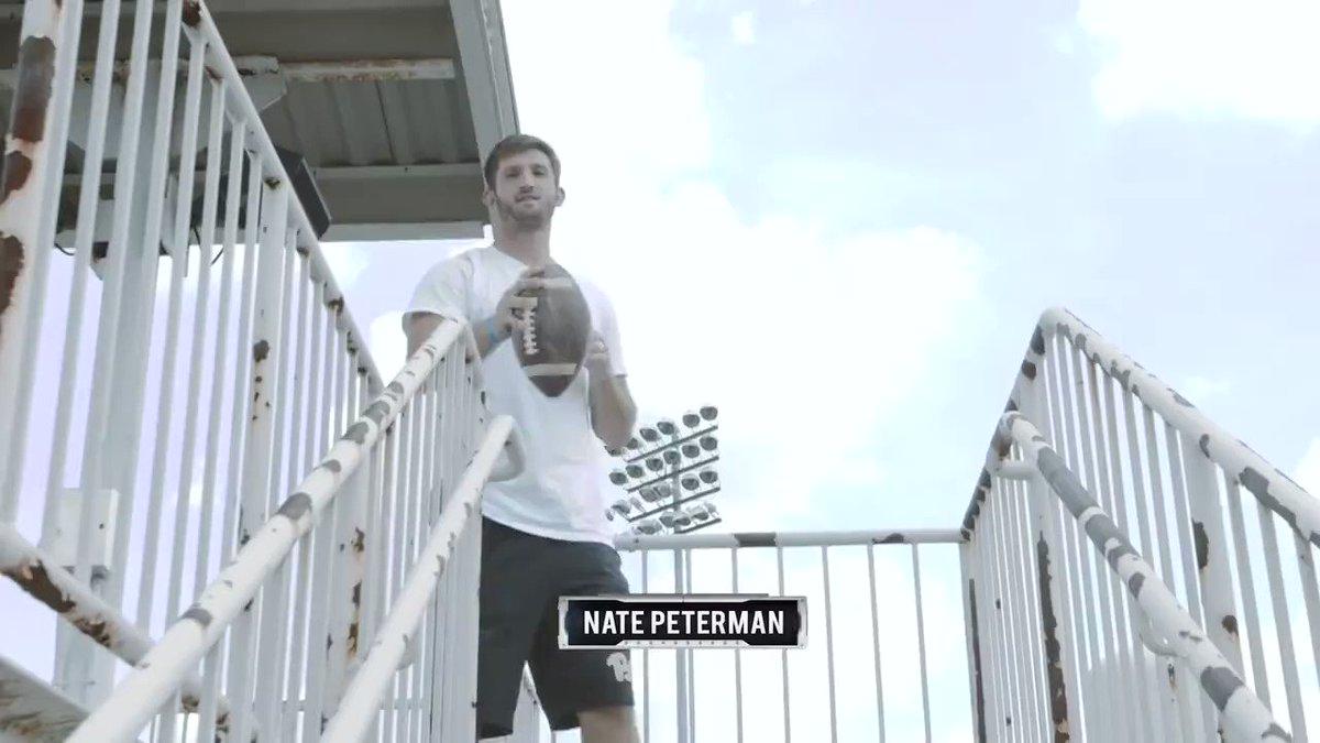 Sunday's starting QB: @NatePeterman, trick shot edition. �� #GoBills https://t.co/ZmC8ws6jM2