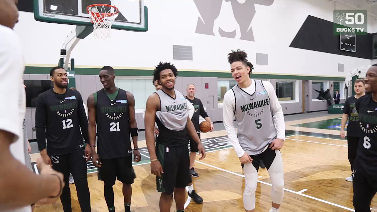 Giannis Antetokounmpo gets a special happy birthday song from the rookies