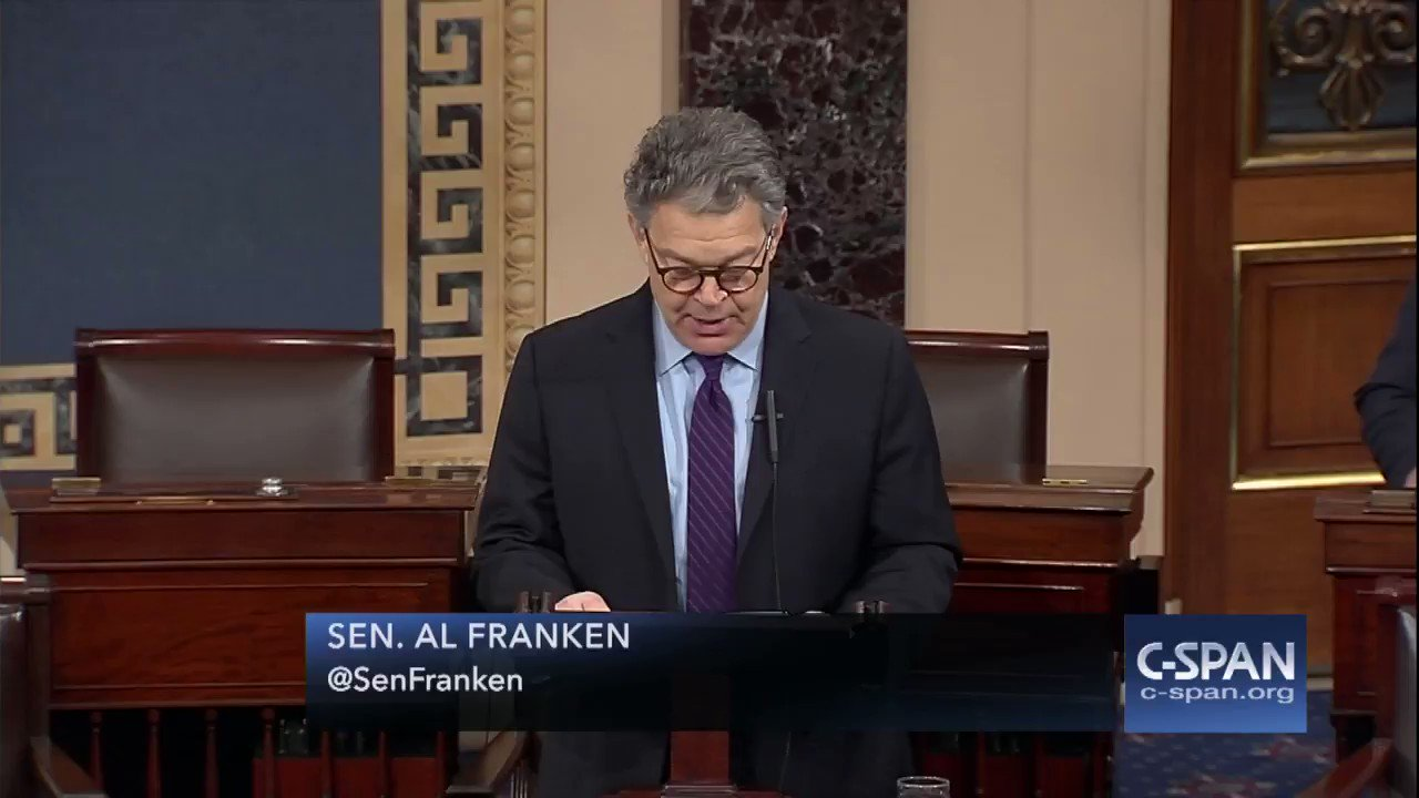 ".@SenFranken: ""Today I am announcing that in the coming weeks I will be resigning as a member of the United States Senate."" https://t.co/jmiTat9Ueo"