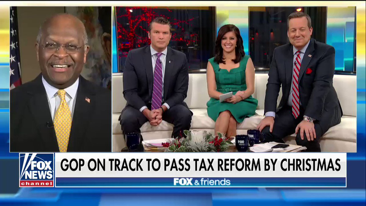 .@THEHermanCain on the tax reform bill: 'It's not, nine, nine, nine, but it's fine, fine, fine.' https://t.co/1XE2nx2Sen