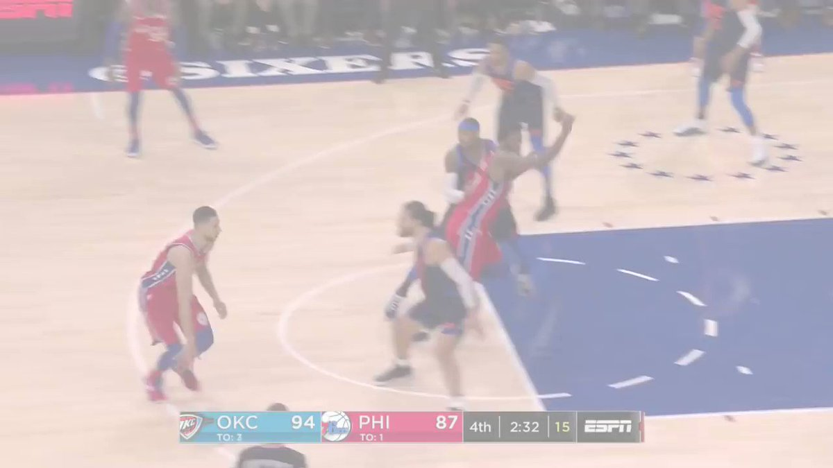 The thrilling 3OT finish between the @OKCThunder & @Sixers in Philly! https://t.co/FfL23Tk9Aw