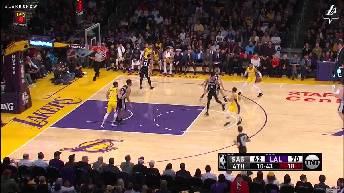 Kyle Kuzma with a slick pass for his fourth helper of the game #NBAVote (��: TNT) https://t.co/7pmWN3vikL