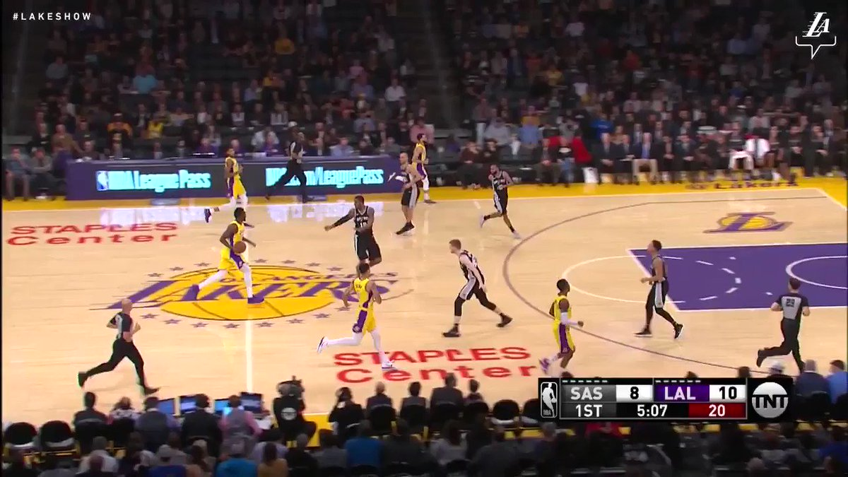 �� Another strong game from Lonzo Ball as the Lakers beat the Spurs for their third straight win, 93-81. #LakersWin https://t.co/GHAeqEHJoF