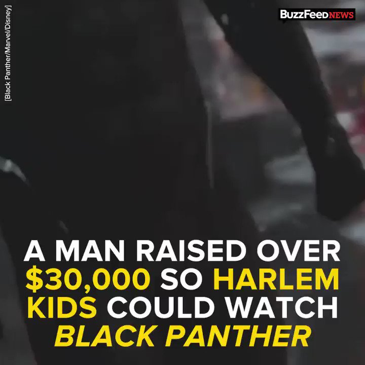 RT @BuzzFeed: a man raised over $30,000 so kids in Harlem could watch