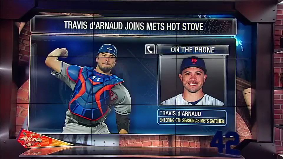 Travis d'Arnaud chatted with @gappleSNY and spoke about his approach in 2018 and much more. (via @SNYtv) https://t.co/BQuXi46Vpe