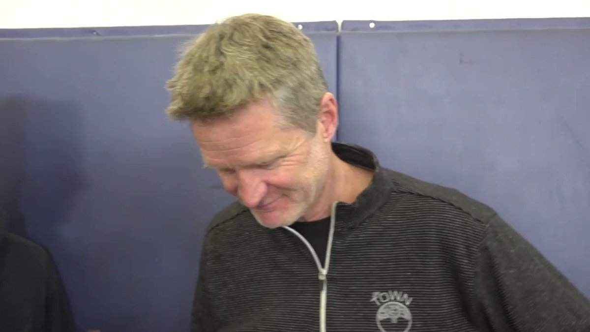 Head Coach @SteveKerr discusses @1jordanbell's injury and what it might mean for playing time for others. https://t.co/s885U38xSM