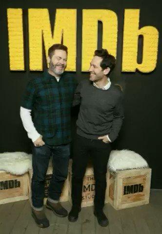 .@Nick_Offerman + Paul Rudd #IMDbStudio ✨ https://t.co/6KMKphfE1G #Sundance https://t.co/0qEt5ibkvS