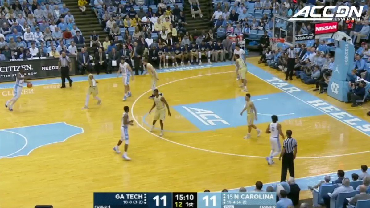 .@tpinsonn with the drive and SLAM in @UNC_Basketball's win today. #MustSeeACC https://t.co/pdSwPpby91