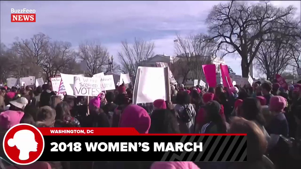 The Women's March in DC has reached the White House.  Live stream -> https://t.co/Z7hG1f9mWE https://t.co/0xbgZPEhCb