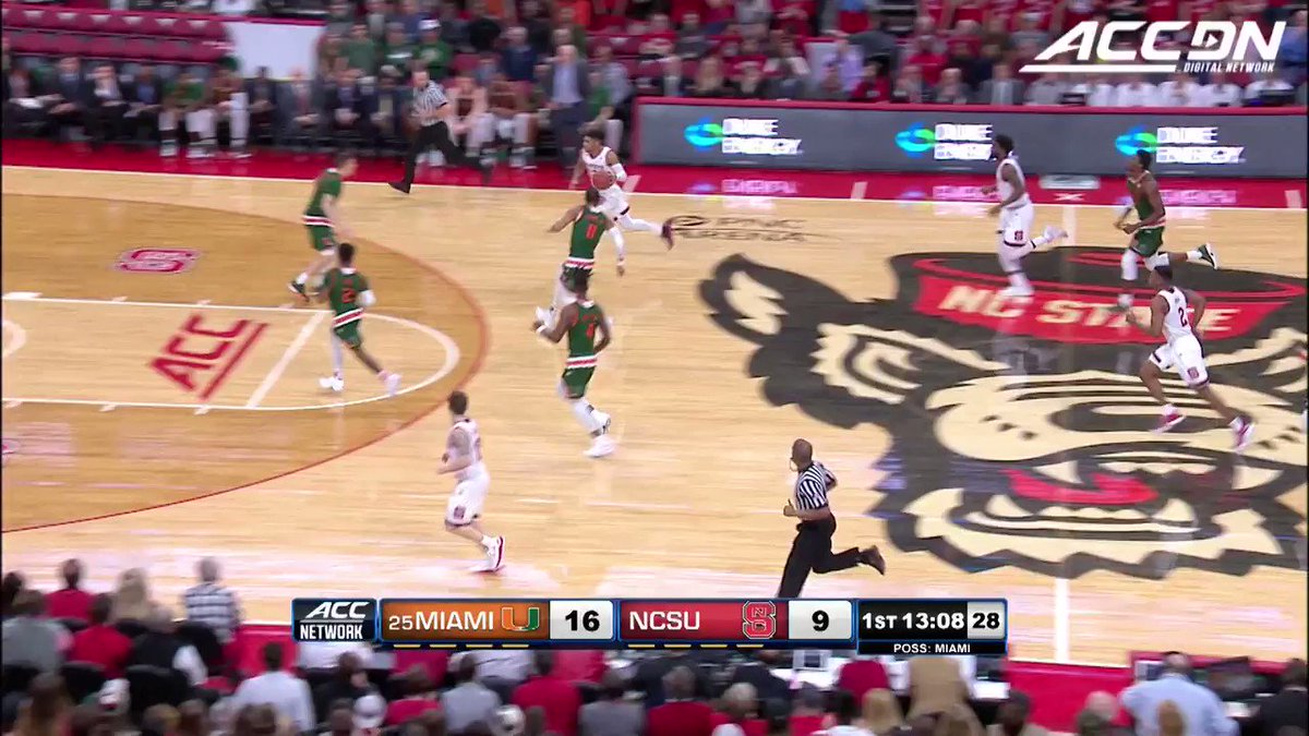 Lonnie Walker with the OOP in @CanesHoops' win today. #MustSeeACC https://t.co/Vnx5aeavVC