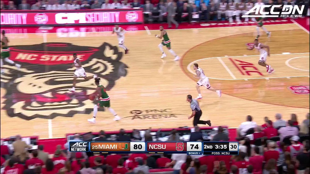 Oh my Bruce Brown! What did that rim ever do to you!? #MustSeeACC https://t.co/ueGcqu9Abe