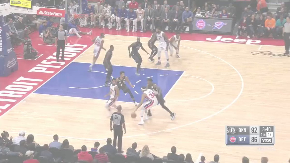 The @BrooklynNets and @DetroitPistons trade buckets late in thriller! https://t.co/7bZRvcylqd