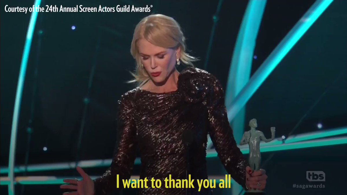 Nicole Kidman Tears Up Accepting SAG Award: 'Our Careers Today Can Go Beyond 40 Years'