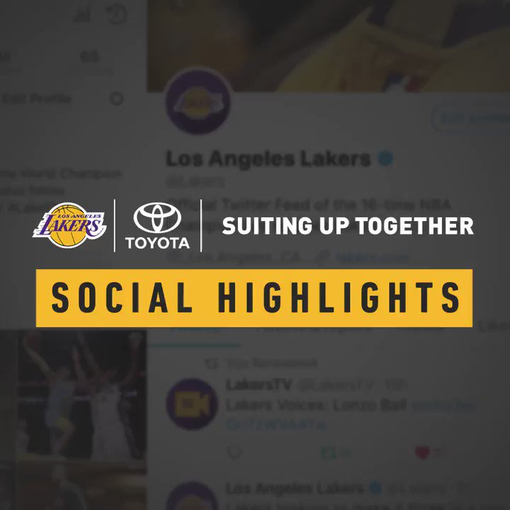 W's, movie night and more in the latest edition of Lakers Social Highlights presented by @toyotausa https://t.co/iu7AJWMlTE