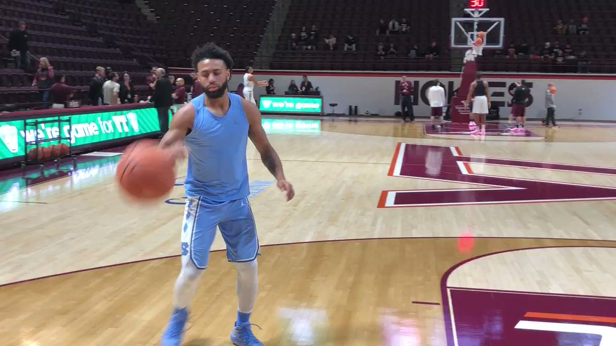 .@JoelBerryII gets some shots up prior to @UNC_Basketball's matchup against @HokiesMBB! https://t.co/R94SEEwOGJ