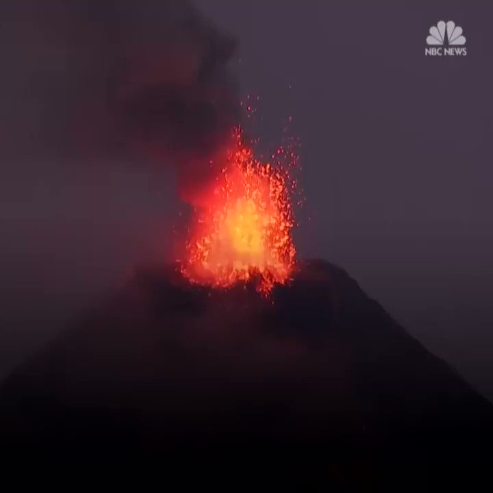WATCH: An eruption from Mount Mayon, the most active volcano in the Philippines, forced more than 56,000 people to evacuate. https://t.co/Zpf0JHufTB