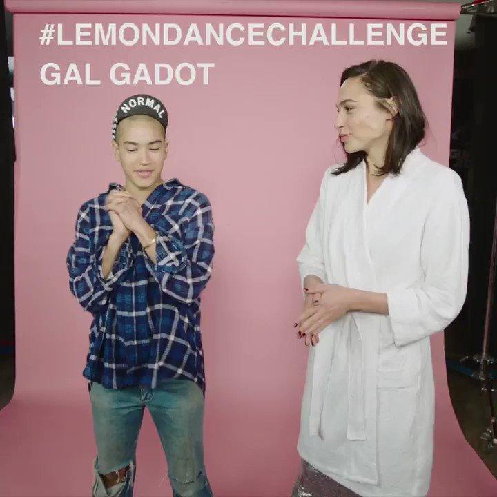 This is too much! @galgadot Mette Towley @nerdarmy #LemonDanceChallenge #LiveBoldly https://t.co/4Xz115RNrU