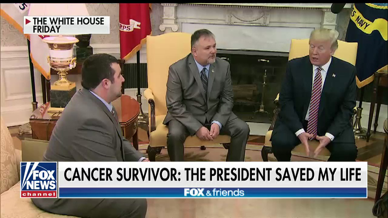"'HE SAVED MY LIFE': @realDonaldTrump donated $10,000 to a campaign volunteers cancer stricken father Don Bouvet: ""I wanted one day to shake @POTUS hand, look him in the eye and say thank you! I did that Friday""! https://t.co/dlytvwQdR9"