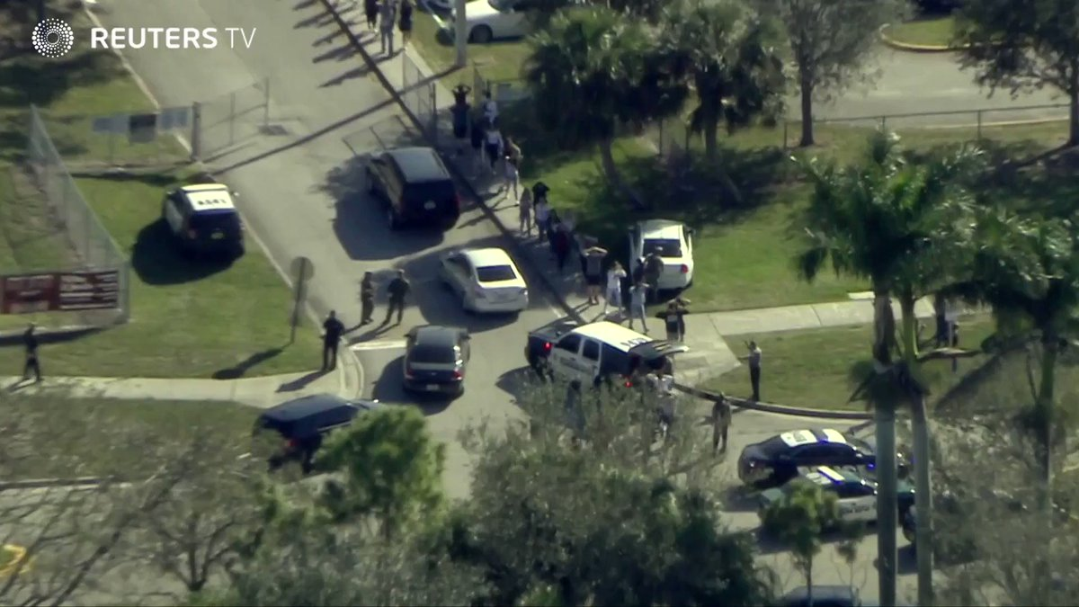 A shooter is still at large after gunfire at a Florida high school, police say.