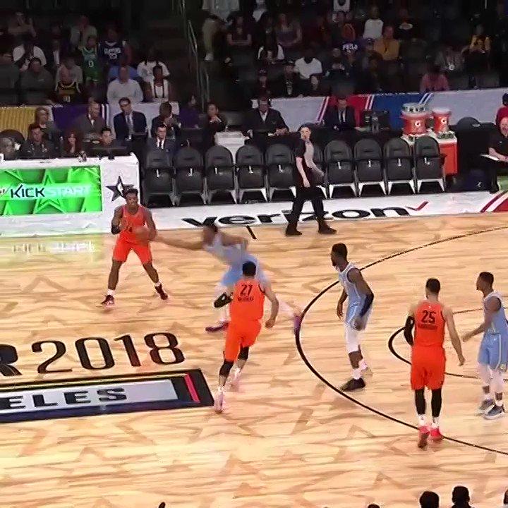 RT @NBATV: .@spidadmitchell starts his #NBAAllStar weekend with a bang! 😳 https://t.co/mLKQV3kX3X