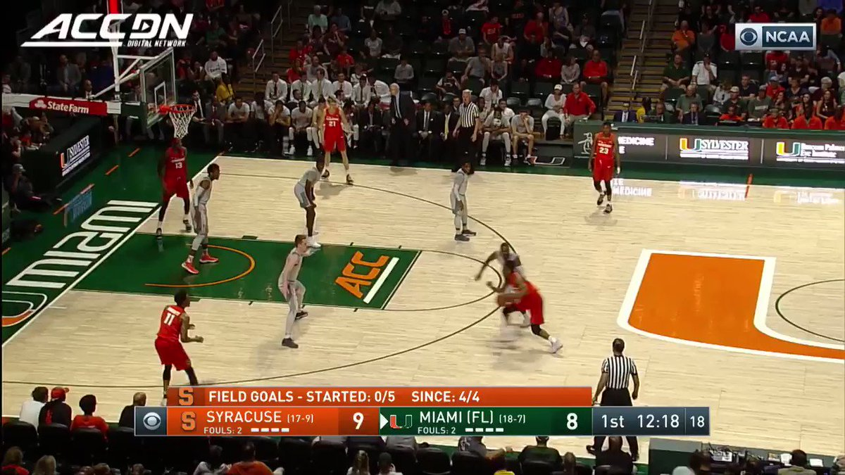 Oshae Brissett (@Obrissy) with the HAMMER for @Cuse_MBB in a huge road win over Miami https://t.co/XXoVTcR9Kt