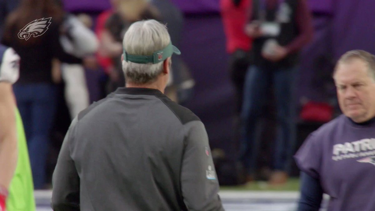 Listen in on Coach Pederson as he led the #Eagles to their first #SuperBowl title.  #FlyEaglesFly https://t.co/TKCQWaqaxB