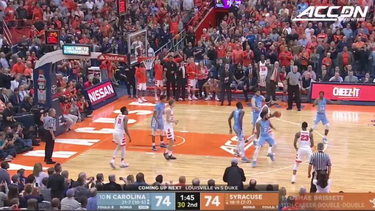 .@JoelBerryII's late steal and layup put @UNC_Basketball up for good! https://t.co/5IQC9S8QKc
