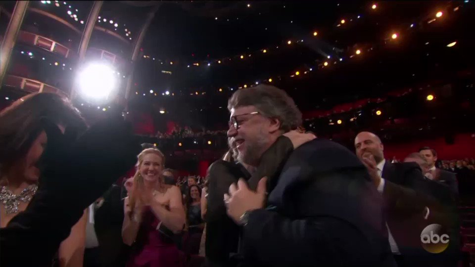 ".@RealGDT wins Best Director at the Oscars: ""I am an immigrant"""